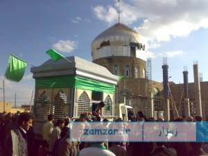 حمل ضریح امامزاده حلیمه خاتون شهر کرکوند سال 88 (2)