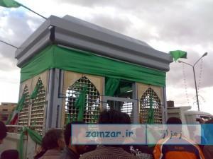 حمل ضریح امامزاده حلیمه خاتون شهر کرکوند سال 88 (4)