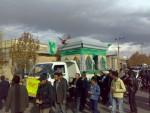 حمل ضریح امامزاده حلیمه خاتون(س) شهر کرکوند – پاییز ۱۳۸۸