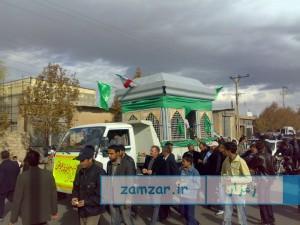 حمل ضریح امامزاده حلیمه خاتون شهر کرکوند سال 88