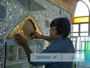 نصب ضریح امامزاده حلیمه خاتون کرکوند