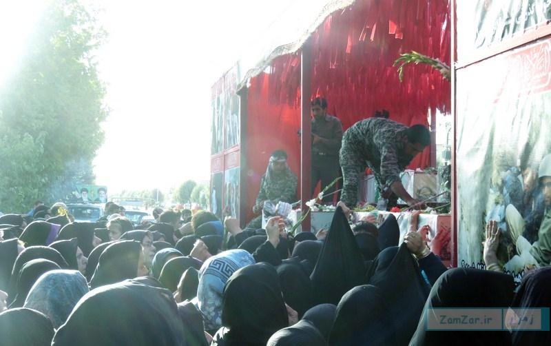استقبال از کاروان شهدای گمنام در شهر کرکوند