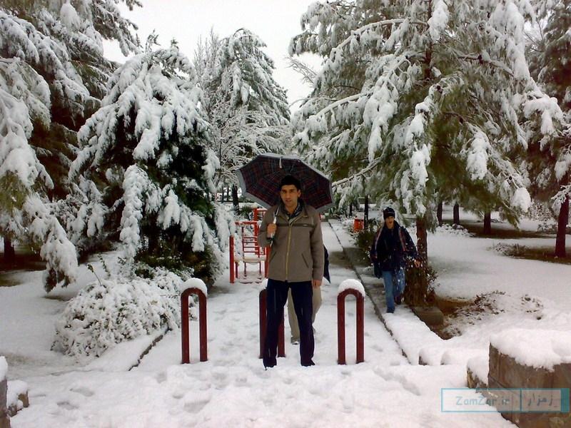 عکسهایی از بارش برف 88 کرکوند (بوستان ملت)