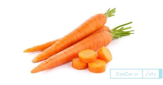 خاصیت هایی از هویج در چند خط