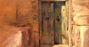 نقاشی درب قدیمی