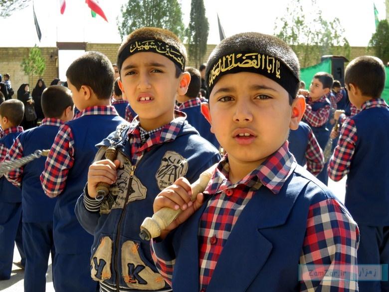 مراسم عزاداری در دبستان امیرکبیر کرکوند