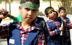 (تصاویر) عزاداری هیئت دانش آموزی قاسم بن الحسن(ع) دبستان امیرکبیر کرکوند