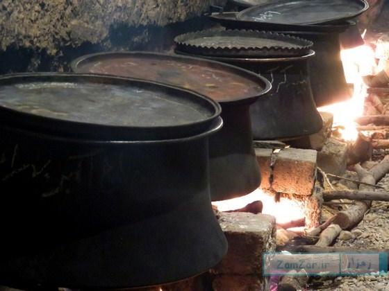 (تصاویر) پخت نذری روز عاشورا