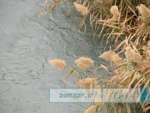 عکسهایی از ساحل زاینده رود در فصل پاییز