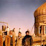 (تصاویر) بازسازی حرم امامزاده حلیمه خاتون (س) کرکوند در دهه ۷۰ خورشیدی