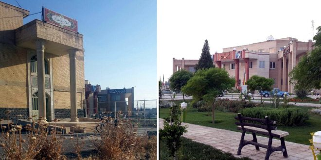 مجموعه فرهنگی و کتابخانه عمومی شهر کرکوند در همسایگی ساختمان شهرداری و شورای اسلامی شهر کرکوند