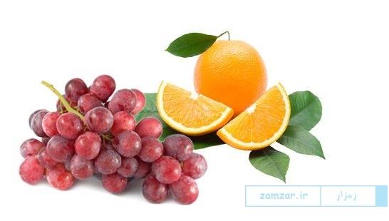 انگور و پرتقال