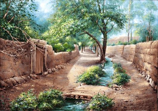 (شعر) بنگر که جوی آب چه مستانه میرود