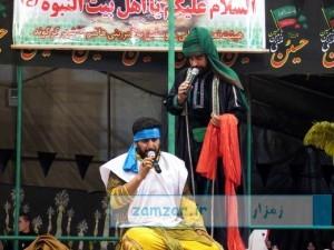 مراسم تعزیه خوانی حضرت حر بن ریاحی (ع) در شهر کرکوند